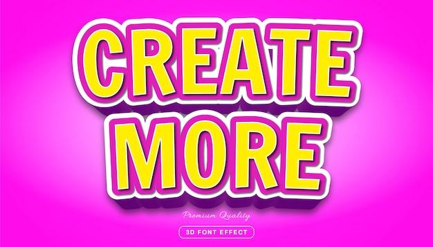 Stwórz więcej - edytowalny efekt tekstowy