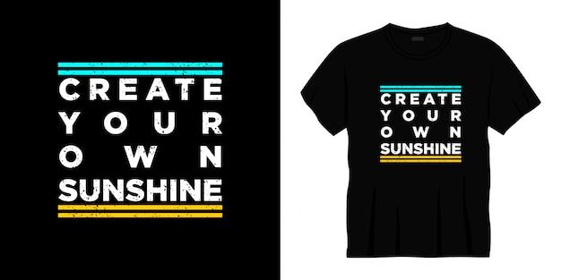 Stwórz własny projekt koszulki z typografią słońca.