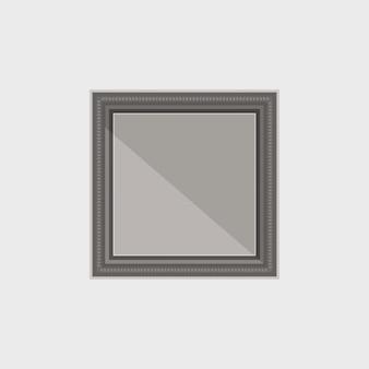 Stworzona prosta ciemna ramka z lustrzanym odbiciem