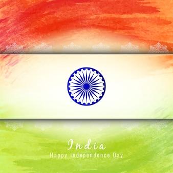 Styl akwarela indyjskich motywu motywu flagi