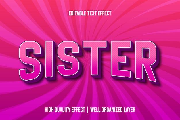 Styl czcionki edytowalnego tekstu siostry