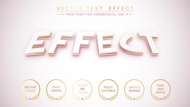 Styl czcionki efektu tekstowego złotego obrysu