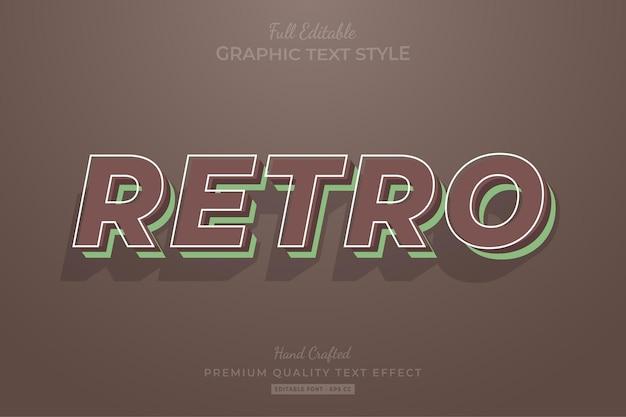 Styl czcionki retro vintage edytowalny efekt tekstowy