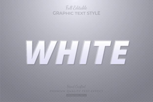 Styl czcionki z efektem edytowalnego tekstu z białymi tłoczeniami