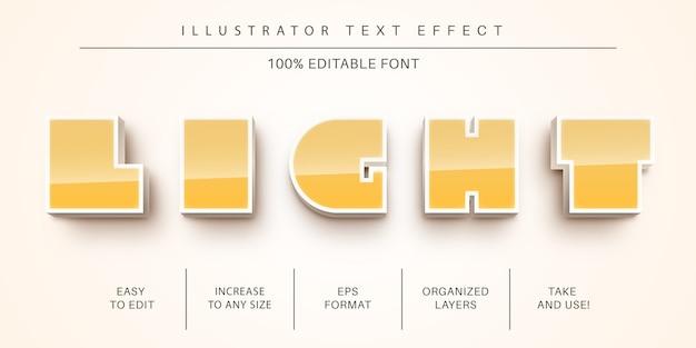 Styl czcionki z efektem tekstu światła 3d