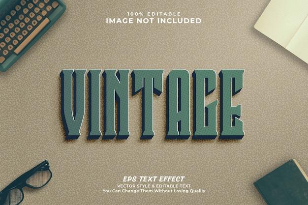Styl edycji tekstu w stylu vintage - premium