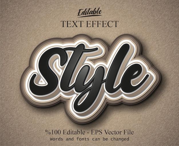 Styl edytowalny efekt tekstowy wektor eps