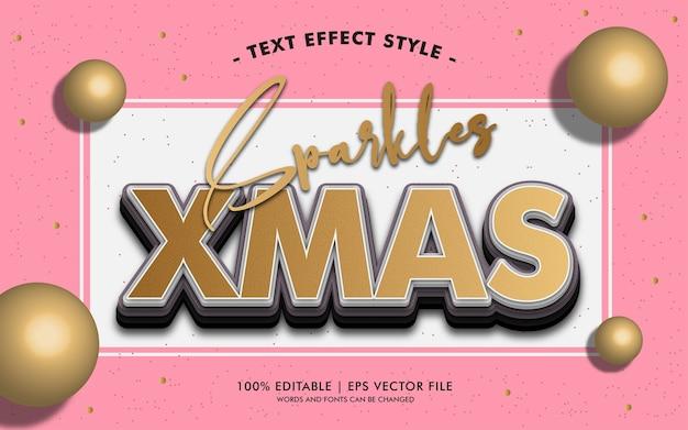 Styl efektów tekstowych sparkles xmas