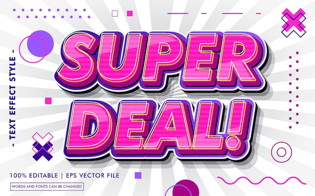 Styl efektów tekstowych super deal