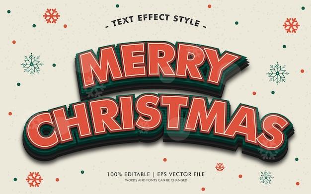 Styl efektów tekstowych wesołych świąt