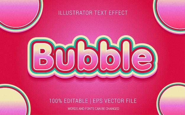 Styl efektów tekstu bubble