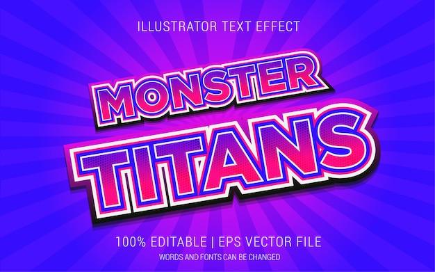Styl efektów tekstu potworów