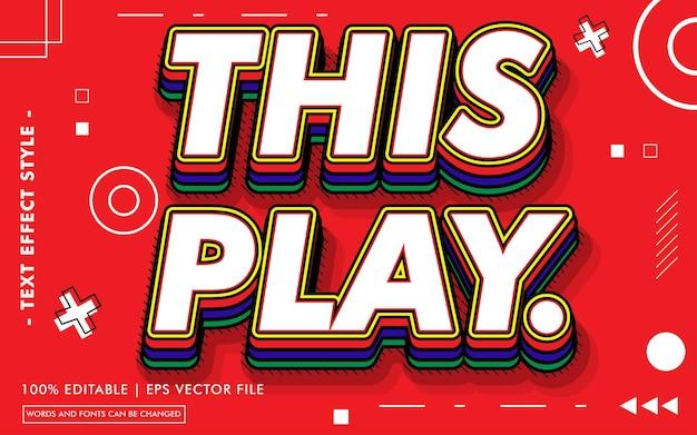 Styl efektów tekstu tego play