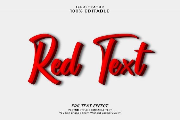 Styl efektu czerwonego tekstu dla nagłówka