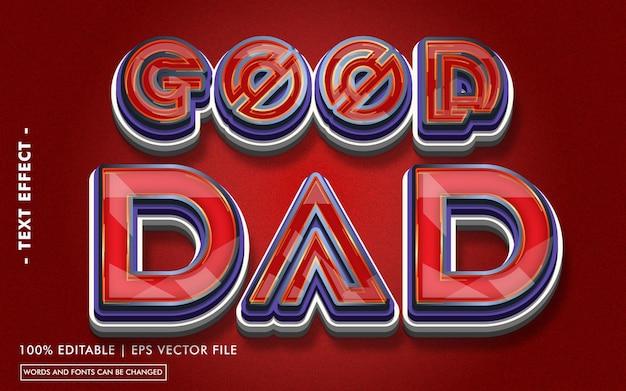 Styl efektu tekstowego dobrego taty