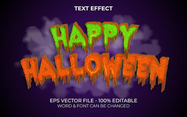Styl efektu tekstowego happy halloween edytowalny efekt tekstowy