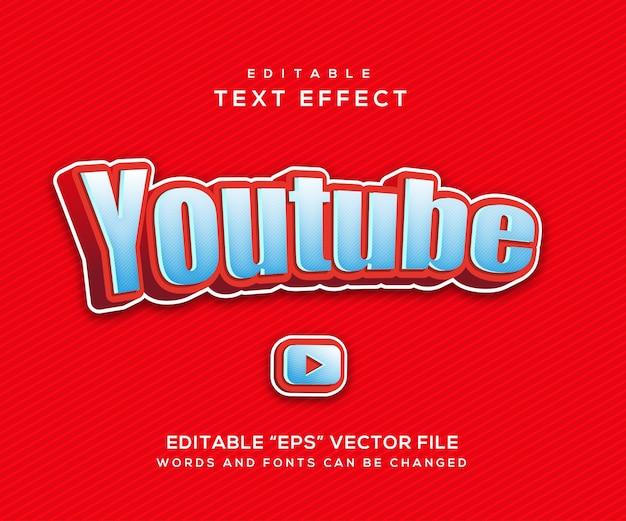 Styl efektu tekstowego youtube