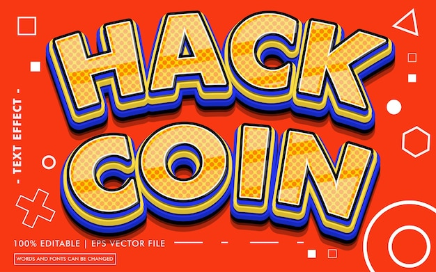 Styl efektu tekstu hack coin