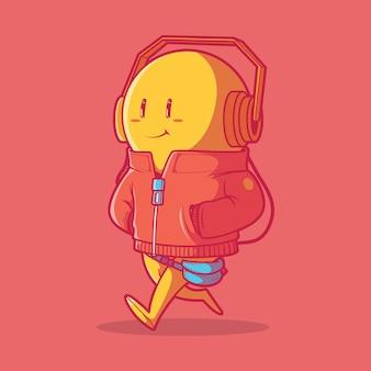 Styl emoji. styl, wyobraźnia, udostępnianie koncepcji projektu