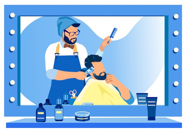Styl fryzjer dla świątyń przycinania klienta