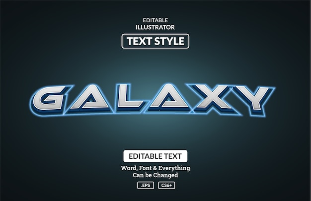 Styl galaktyki kosmicznej, edytowalny efekt tekstowy