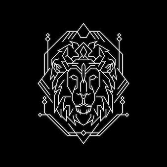 Styl geometrii old king lion