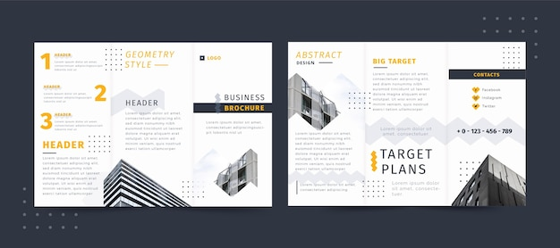 Styl geometryczny broszury biznesowej