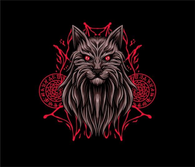 Styl geometryczny ilustracja kot