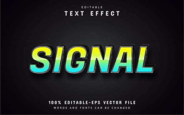 Styl gradientu efektu tekstu sygnału