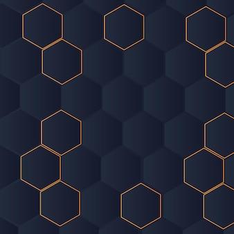 Styl gradientu sześciokątne abstrakcyjne tło