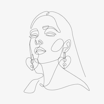 Styl grafiki głowy kobiety