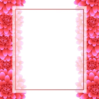 Styl graniczny różowy transparent Dahlia