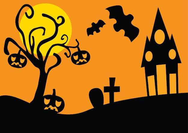 Styl grunge halloween tło z nietoperzami jack o latarnia i sowa
