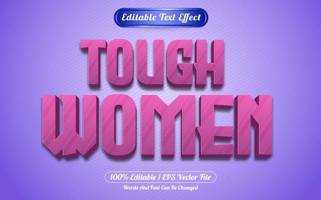 Styl gry z edytowalnym efektem tekstowym dla kobiet