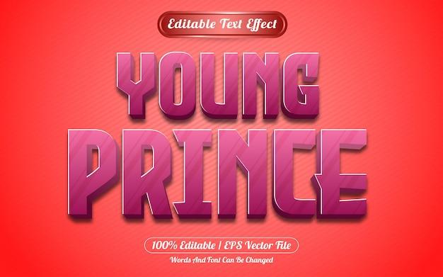 Styl gry z efektem tekstowym młodego księcia
