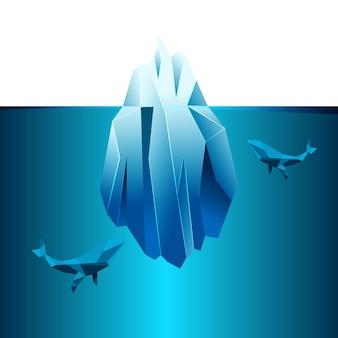 Styl ilustracji góry lodowej