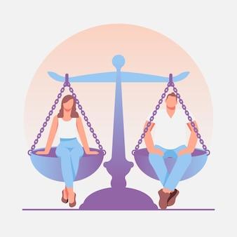 Styl ilustracji równości płci