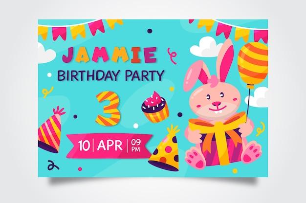 Styl karty urodzinowej dla dzieci