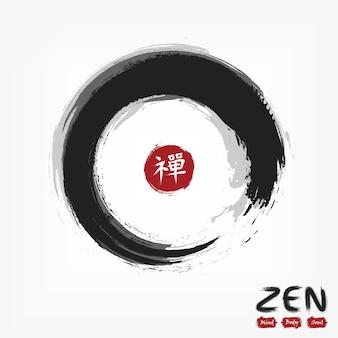Styl koła enso zen.