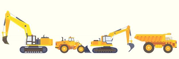 Styl kolekcji maszyn budowlanych