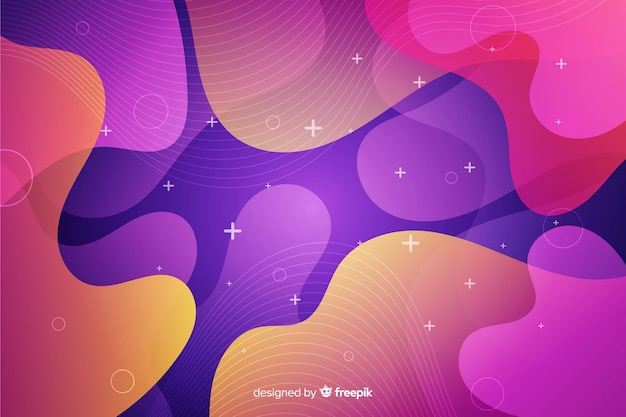 Styl kolorowych gradientów płynnych kształtów