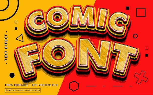 Styl komiksowy z efektem tekstu czcionki