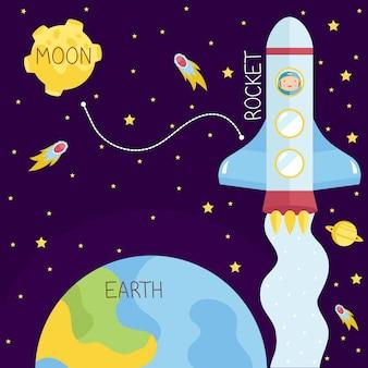Styl kreskówek lotów kosmicznych