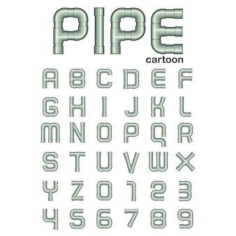Styl kreskówek rury pipe