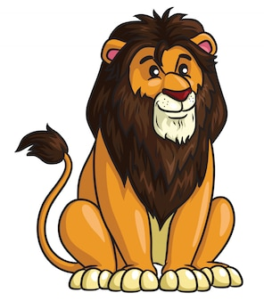 Styl kreskówki lwa