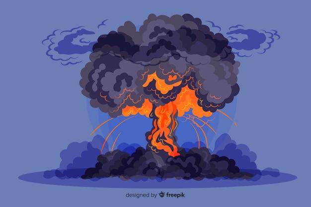 Styl kreskówki z efektem wybuchu jądrowego