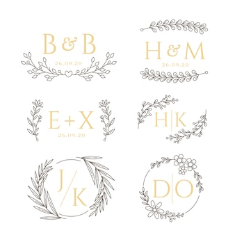 Styl kwiatowy na monogramy ślubne