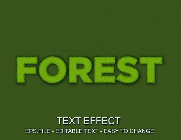 Styl lasu z edytowalnym efektem tekstowym
