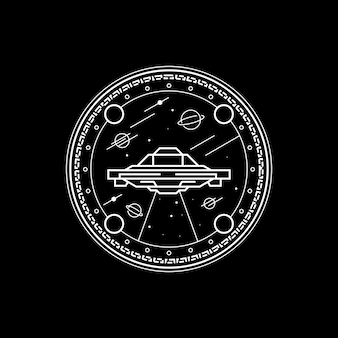 Styl linii alien space geometry