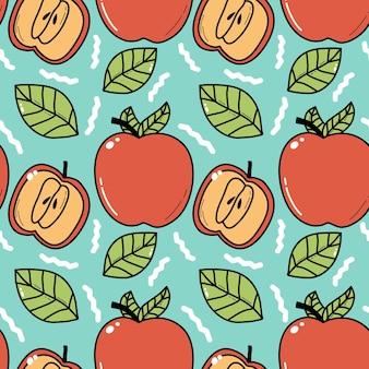 Styl linii bez szwu apple doddle